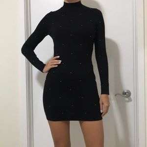 Black Turtleneck MINI DRESS